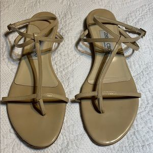 Jimmy Choo Patton Leather Fiona sandals. 38